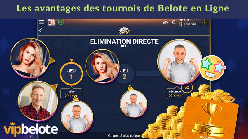 Les avantages des tournois de belote en ligne