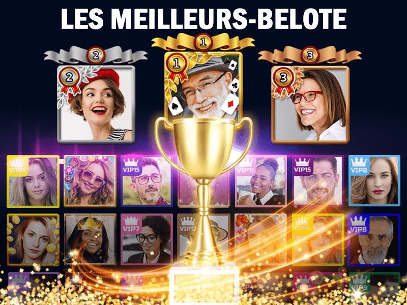 TOP JOUEURS DE VIP BELOTE
